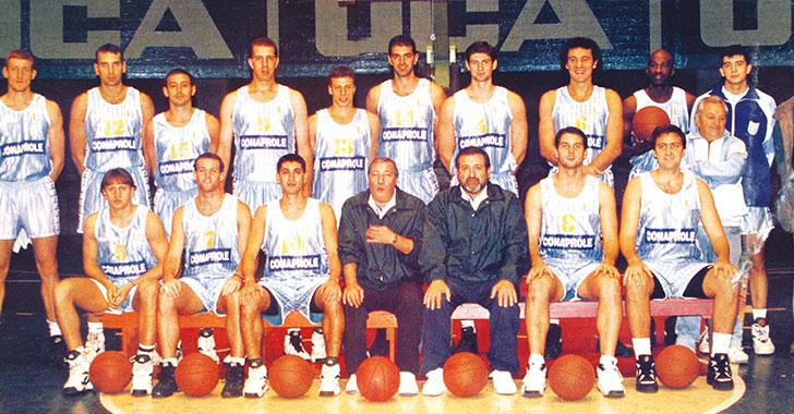 Uruguay Campeón Sudamericano de Básquetbol 1995 con Falleció Víctor Hugo Berardi como DT. Foto: museo.urubasket.com