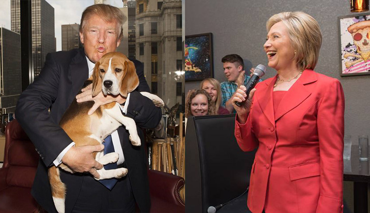 Fotos: Facebook Donald Trump y Hillary Clinton.