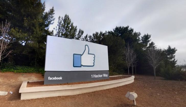 """Vista del """"campus"""" de Facebook en 1601 Willow Rd, Menlo Park, California. Foto: Google Maps."""