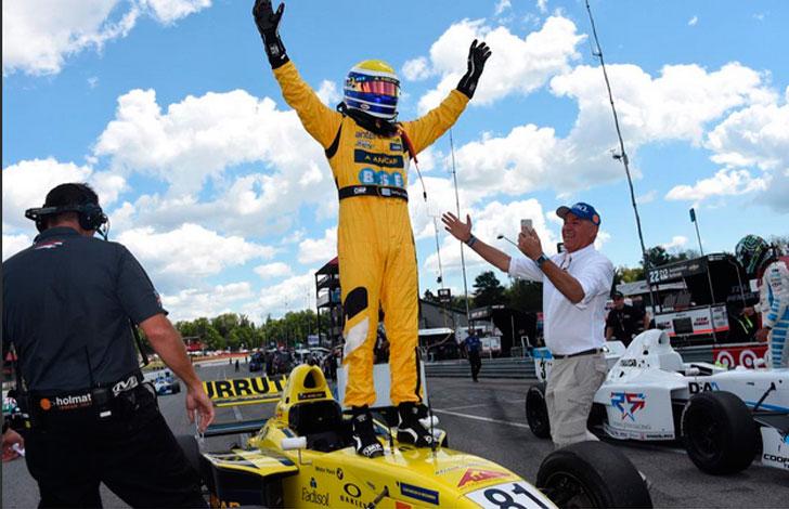 Santiago Urrutia ganó en el circuito de Mid Ohio y continúa como líder en el Pro Mazda
