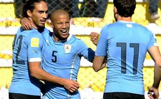 Un triunfo con altura de Uruguay en La Paz . Foto: AFP