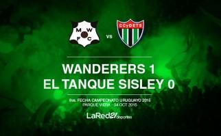 Wanderers le ganó 1 a 0 a El Tanque.