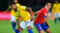 Chile le ganó 2 a 0 a Brasil