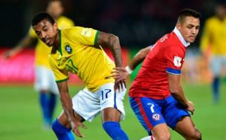 Chile le ganó 2 a 0 a Brasil . Foto: AFP