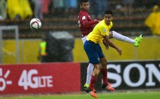 Ecuador le ganó 2 a 0 a Bolivia en Quito. Foto: AFP