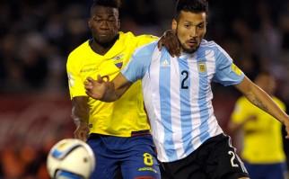 Ecuador sorprendió y el ganó 2 a 0 a Argentina . Foto: AFP