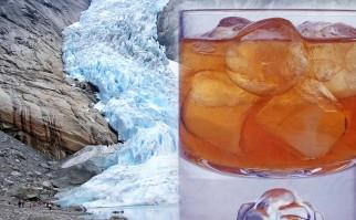 """""""Podrás estar sentado en Dubái, Las Vegas, Mónaco o Singapur y que te sirvan una bebida con cubitos de hielo de Svartisen"""". Fotos: Wikimedia Commons."""