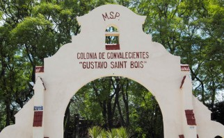 Portón del Centro Hospitalario del Norte. Foto: Archivo Presidencia del Uruguay.
