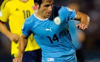 """Lodeiro: """"Si nos dicen que vamos a estar en el Mundial, no me importaría si es jugando bien o mal"""". Foto: AFP"""