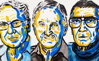 Ilustraciones de Thomas Lindahl, Paul Modrich y Aziz Sancar, realizadas por N. Elmehed. © Nobel Media AB 2015.