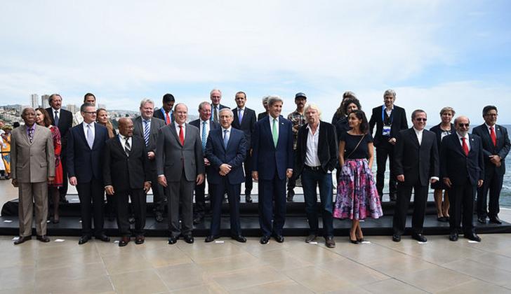 Todos los mandatarios asistentes posan para la fotografía oficial. Foto: Prensa Ministerio de Relaciones Exteriores de Chile.