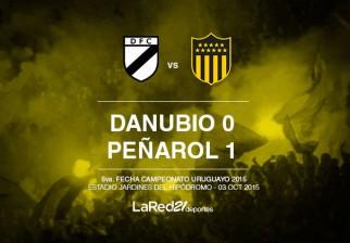 Peñarol le ganó 1 a 0 a Danubio en Jardines