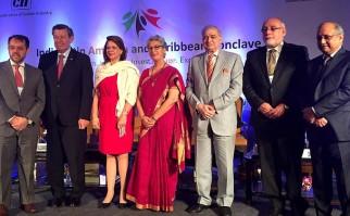 El Canciller Nin Novoa se encuentra en Nueva Delhi, en el cónclave de cooperación entre India y América Latina y El Caribe. Foto: Ministerio de Relaciones Exteriores.