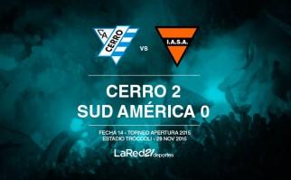 Cerro venció a Sud América y se prendió a la lucha por el título.