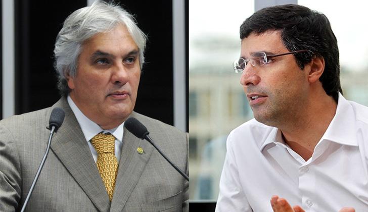 Delcídio Amaral (izq) y André Esteves. Fotos: Wikimedia Commons / Clayton de Souza / Estadão.