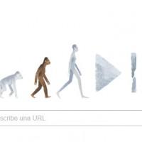 Doodle de Google para Lucy, la primera homínido en caminar erguida hace 3 millones de años