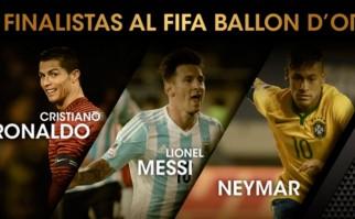 Messi, Neymar y Cristiano Ronaldo son los finalistas al Balón de Oro . Foto:fifacom_es
