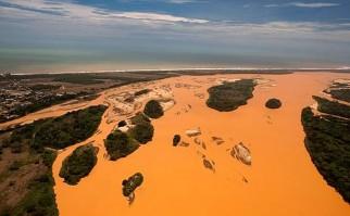 El peor desastre ambiental minero de Brasil llega al mar. Foto: Agencia EFE