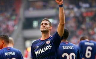 Gastón Pereiro fue elegido el jugador joven de la semana para la UEFA. Foto: AFP