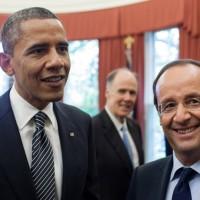 """Obama recibe al presidente de Francia en pos de una coalición """"grande y única"""" contra el Estado Islámico"""