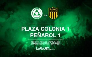 Peñarol empató con Plaza Colonia y sigue demorando su camino al título .