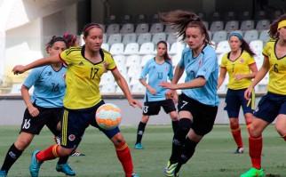 La selección femenina sub 20 cayó ante Colombia y se despidió del Sudamericano . Foto: Conmebol