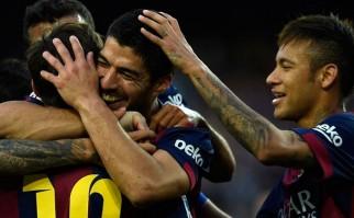 """Suárez: """"Con Messi y Neymar nos entendemos y sólo pensamos en el bien del equipo"""". Foto: archivo AFP"""