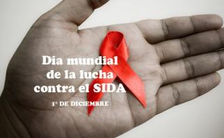 Un listón rojo simboliza la lucha contra este síndrome que afecta a 35 millones de personas en el mundo, según datos de ONUSIDA. Foto: Sham Hardy.