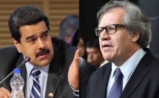 """Maduro había llamado """"hombre basura"""" a Luis Almagro en días pasados. Fotos: Presidencia de Venezuela / OEA."""