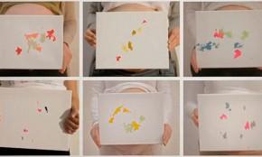 Bebés realizan obras de arte desde adentro de la panza para campaña solidaria