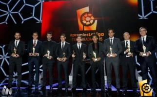 Premio a los mejores de la Liga de España 2014/2015. Foto: laliga.es