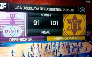 Hebraica Macabi clasificó a la Liga Sudamericana tras consagrarse campeón del Súper 4.