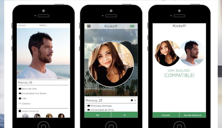 Interfaz de la aplicación para celulares.