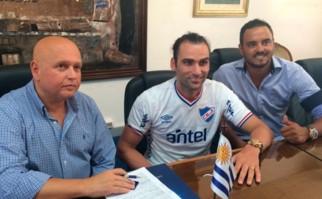 Nacional oficializó la llegada de Léo Gamalho. Foto: @Nacional