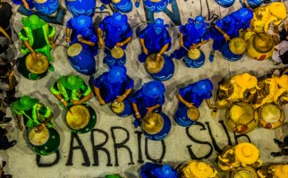 Diez comparsas de lubolos desfilarán hoy tras la suspensión de las Llamadas por mal tiempo. Foto: Intendencia de Montevideo