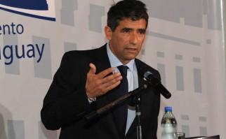 Sendic, cuando brindaba una conferencia de prensa sobre la situación de ANCAP. Foto: Archivo Presidencia del Uruguay.