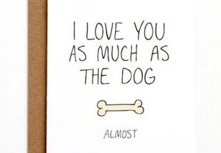 Tarjetas con un toque de humor para regalar en San Valentín