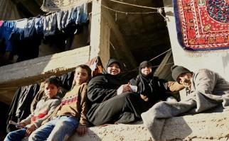 Residentes en un campo de refugiados en Alepo, en Siria. Foto: OCHA/Josephine Guerrero.