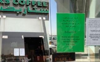Starbucks niega entrada a mujeres en Arabia Saudita. Foto: Twitter