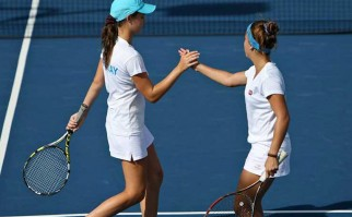 Uruguay venció a Bahamas en tenis femenino. Foto: Fed Es
