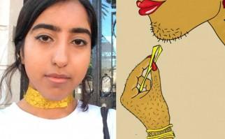 Una artista pakistaní realiza ilustraciones para demostrar la naturalidad del vello corporal en las mujeres.