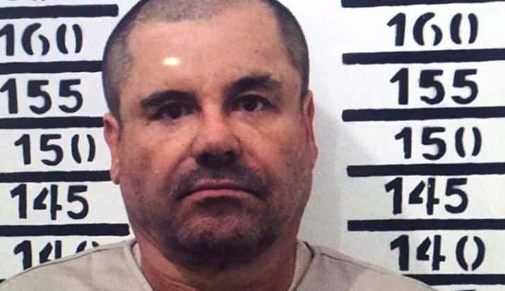 Joaquín 'El Chapo' Guzmán en la foto de registro de cárcel de Altiplano.
