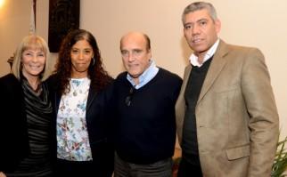 Celsa Puente, Daniel Martínez y | Foto: Intendencia de Montevideo