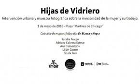"""Se instalará la muestra fotográfica """"Hijas de Vidriero"""" en la Plaza 1° de Mayo"""