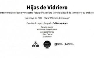 """Se instalará la muestra fotográfica """"Hijas de Vidriero"""" en la Plaza 1° de Mayo."""