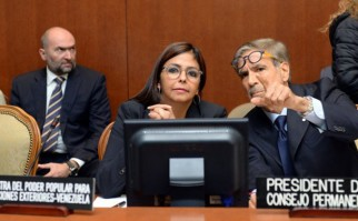 Delcy Rodríguez, canciller de Venezuela. Foto: twitter.com/vencancilleria.