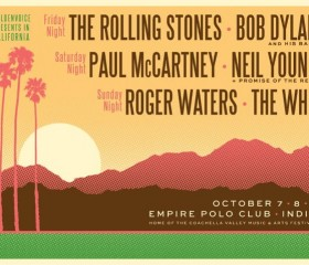 The Rolling Stones, Paul McCartney, Bob Dylan, The Who, Neil Young y Roger Waters en un solo festival