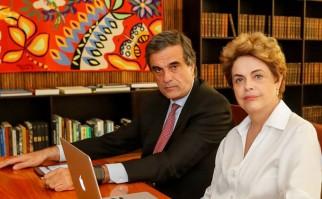 Dilma Rousseff junto a su abogado José Eduardo Cardozo, que la acompaña en el proceso del impeachment. Foto: Facebook Dilma Rousseff.
