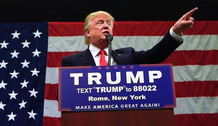 Trump, durante un evento político en Rome, Nueva York, el pasado 12 de abril. Foto: Facebook/DonaldTrump.