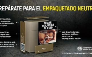 En el Día Mundial Sin Tabaco 2016 la OMS hace hincapié en la importancia el empaquetado neutro .